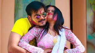 nice couple playing holi